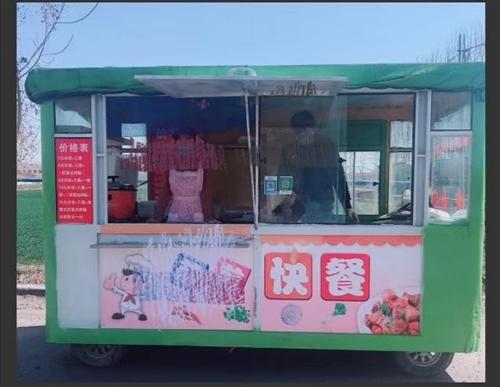 電動四輪餐車低價轉讓、車內可以賣盒飯(帶盒飯整套設備),炸煎餅,肉夾饃,冷飲。等等,多用途餐車。新換...