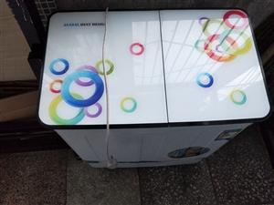 中型雙桶半自動洗衣機,小巧輕便,8成新,使用一年多了,沒有維修過,取貨地址在大潤發一店后面,安智路(...