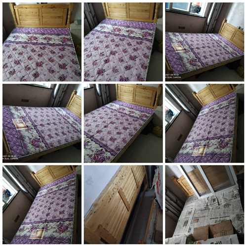 低价处理全新实木床(柏木)1.2米、1.5米各一张,配铺板、棕垫,有意者电15884790263