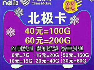 新到�信移�颖�O卡五�N套餐如下: 8元7G流量 10元15G流量 15元20G流量 20元4...