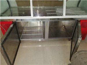 长3米宽一米玻璃展柜,上层保鲜,下层可冷藏,9成新