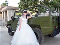 九成新拖地婚纱,带头纱,结婚穿过一次,110斤以内可穿,M码!需要的联系我!