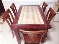 餐桌一张,椅子六把,茶几一个,价格面议