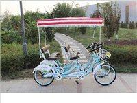 因武高铁这边禁止自行车上路,本人急于出售六辆九成新的奥威特双人联排车四人观光自行车奥威特22...