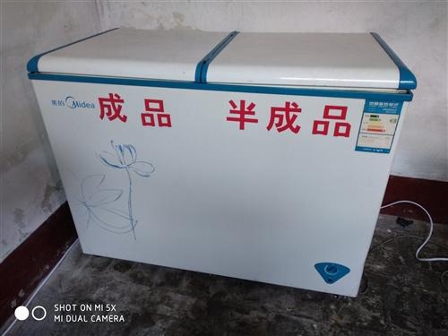 出售二手冰柜  美的 1.2米  一邊冷藏,一邊冷凍