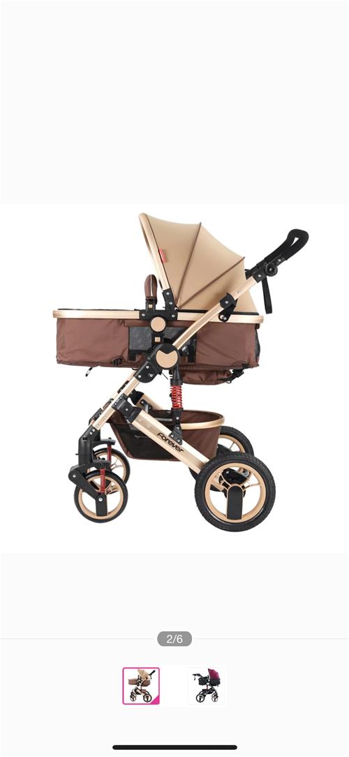 原价599购永久牌婴儿车,可坐可躺。9成新,低价转让。邛崃城区可送货。