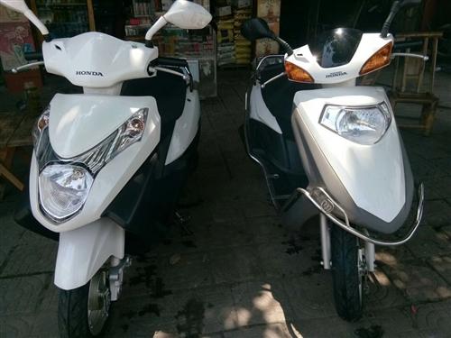 二手五羊本田踏板摩托车两个,还没上户,入手新上户,九成新,车况好,有意的朋友可以联系:1345883...
