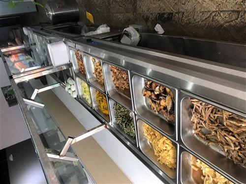 快餐保温车,快餐桌,消毒柜,操作台,收银机,厨具,中压粉汤炉,不到半年新新的,