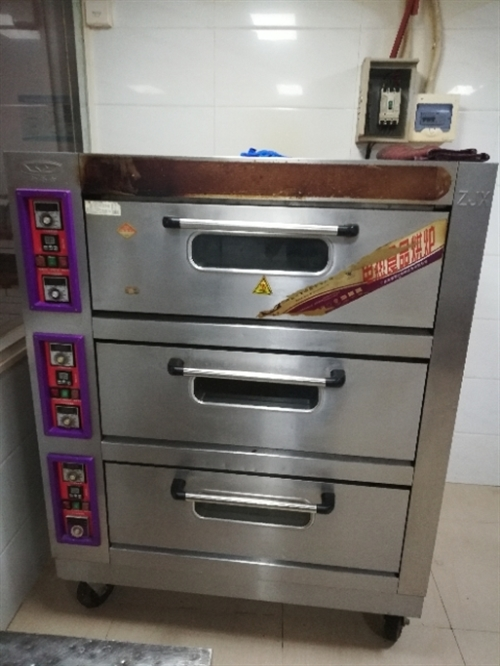 因合同到期,现有二手三层六盘烤箱一个、55KG制冰机一台转让有意者请拨打15208992516
