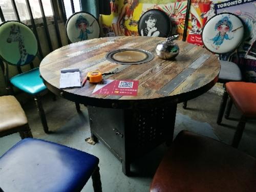火鍋圓桌、方桌、長條桌(含電爐)低價處理