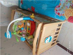 实木电动摇床  带尿湿感应    完全解脱双手    带小玩具
