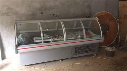 风冷型展示柜低价出售,2.5米长,还有奶茶店用的制冰机,全自动封口膜机,汽油发电机,2匹定频柜机空调...