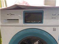9成新,美的滚筒洗衣机,一级能效。
