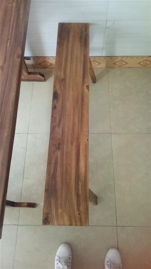 求購二手面桌長條凳1.2米*20*43