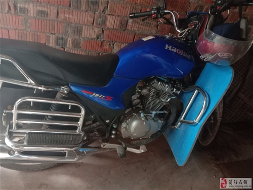 豪爵150买了不到半年,跑了三千八百公里,因为自己没摩托车驾照,买的时候没上户,自己有小车驾照不敢骑...