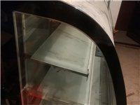 九五新黑色大理石面板蛋糕熟食展示柜转让,图上看着有点脏,因为落灰了。之前开咖啡馆购置的,后来不开了,...