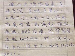 滨江大酒店3室 2厅 1卫1200元/月