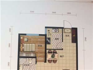 百合御景城2室 2厅 1卫65万元
