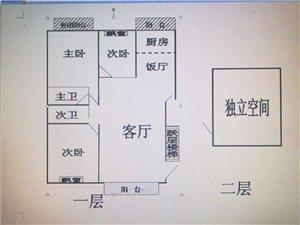 山水印象城3室 2厅 2卫55万元