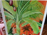 热带风情油画