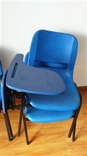 出售二手培训桌椅,柜子,办公桌四合一桌九成新