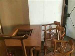 95成新榆木茶艺桌