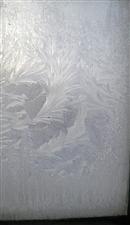 东北玻璃冻成花