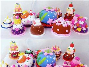 私人订制手工黏土蛋糕