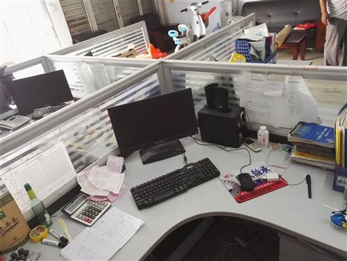 转让二手办公用屏风办公桌