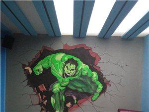 壁画彩绘,墙体广告,假山雕塑