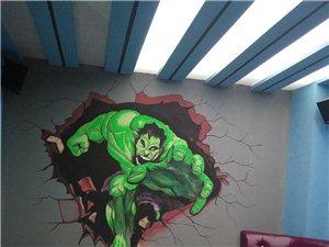 墙体广告,壁画彩绘