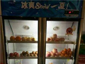 现有两开保鲜柜,海尔冰箱,功能齐全,内外崭新。各项