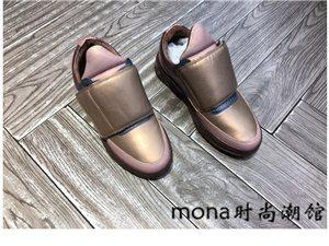 2017春季新款真皮魔術貼系帶時尚潮流正品女鞋