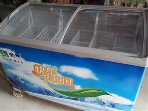 是两个冰柜,一个立式的,一个卧式