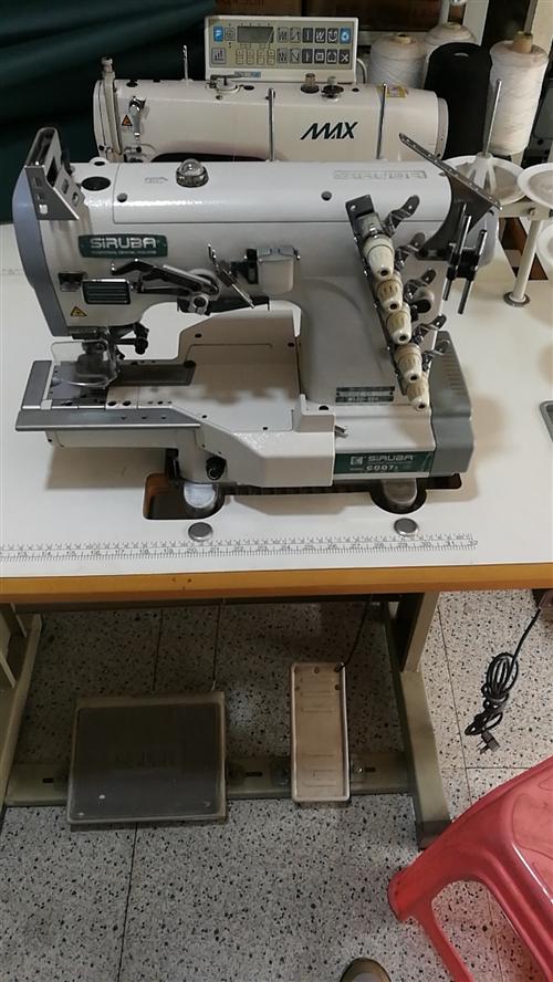 九成新的3针5线坎车包缝机转让
