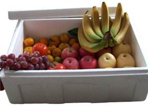 批发蔬菜,水果,海鲜环保泡沫保鲜箱