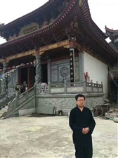中国道教文化协会秘书长胡明帝道长考察福建省福安市白云山养生环境。