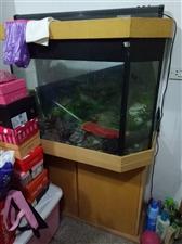 金鱼缸加两层柜子