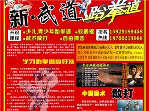 新·武道跆拳道開業了,火熱招生