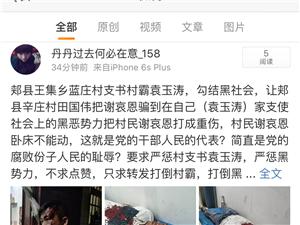平顶山郏县王集乡兰庄村恶霸村支书袁玉涛打人事件