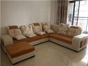 时尚布艺沙发组合 茶几 电视柜