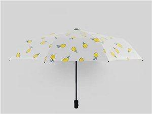 直销防紫外线水果系列黑胶布料遮阳三折伞