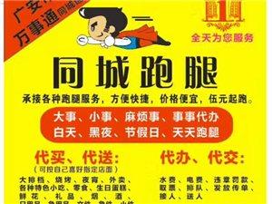 广安区同城跑腿服务公司