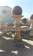 石雕喷泉水钵黄锈石晚霞红石雕刻喷泉小区别墅喷泉