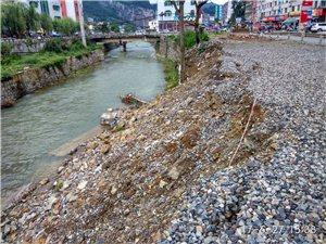 双沙国美桥处河堤垮塌
