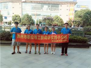 滁州学院赴滁州市各阶层岗位收支情况调研实践活动圆满结束