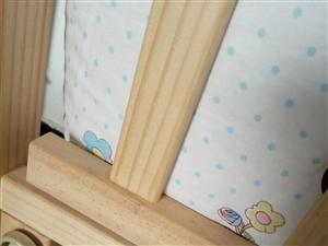 大家好,几乎全新的婴儿床,详情加Qq10...