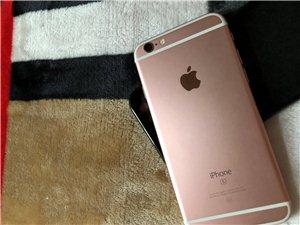 苹果手机6s64G,玫瑰金,八成新、