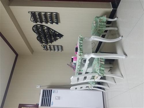 歐式美甲桌椅,1.6米,帶倆凳子倆椅子