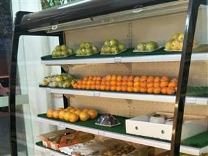 水果保鲜柜(风幕柜)转让,超市专用保鲜柜...